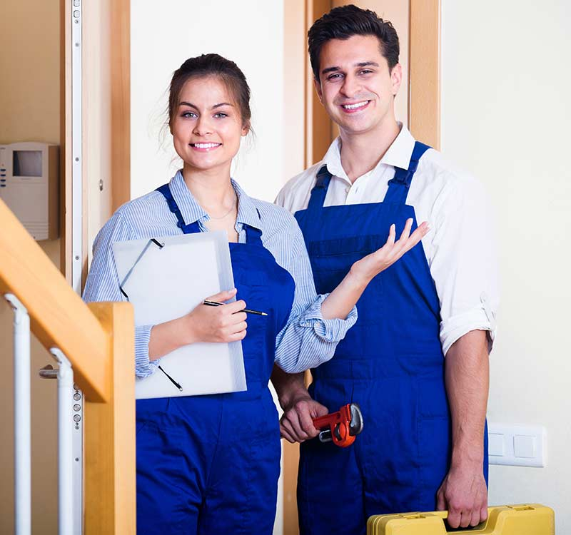 Quality refrigerator mechanics helping a homeowner out in the Morley Region. They pride themselves on super fast repairs and professional service